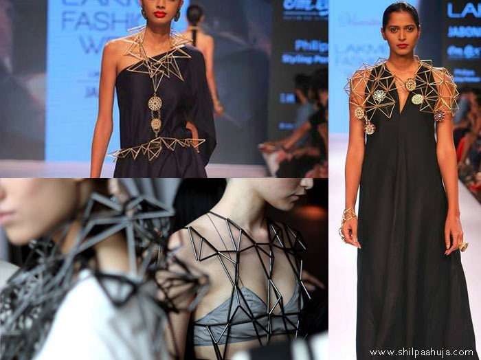 vasundhara_2015_collection_lakme_fashion_week_winter_jewelry_3d_geometric_like_Titania_Inglis