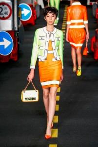 03-moschino-milan-fashion-week-show-spring-summer-2016-ready-to-wear-rtw-green-jacket-orange-dress