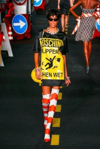 24-moschino-couture-ahead-spring-summer-2016-rtw-traffic-cone-orange-white-boots-slippery-when-wet-dress