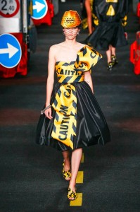 27-moschino-couture-ahead-spring-summer-2016-rtw-caution-belt-dress-construction-hat