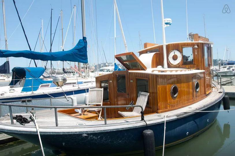 Romantic-100-Year-Old-Tugboat-Sausalito-CA-california-United-States-usa-america-ship-cruise-airbnb-hotel