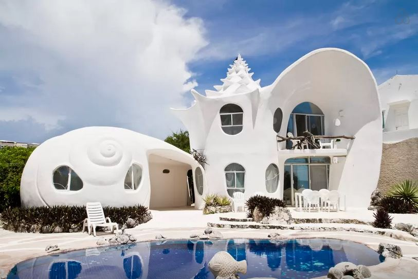 Seashell-House--Casa-Caracol-Isla-Mujeres-Mexico-central-america-beautiful-fantasy-airbnb-stay-villa-house