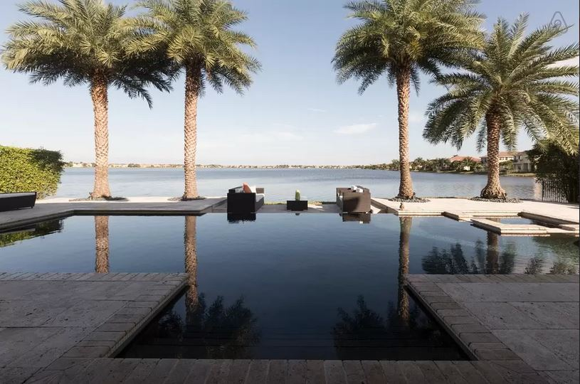 infinity pool united states. Luxury Mansion With A Near-Infinity Lake View Infinity Pool United States D
