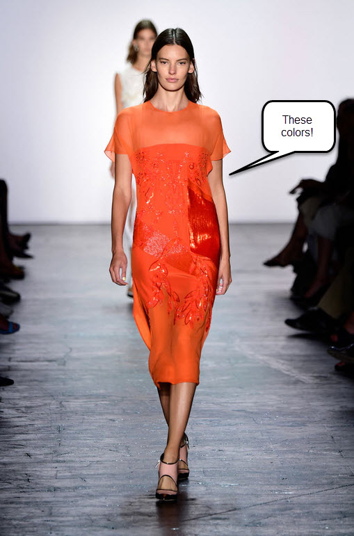 prabal-gurung-spring-2016-best-looks-summer-new-york-fashion-week-trends-top-best-orange-saffron-dress