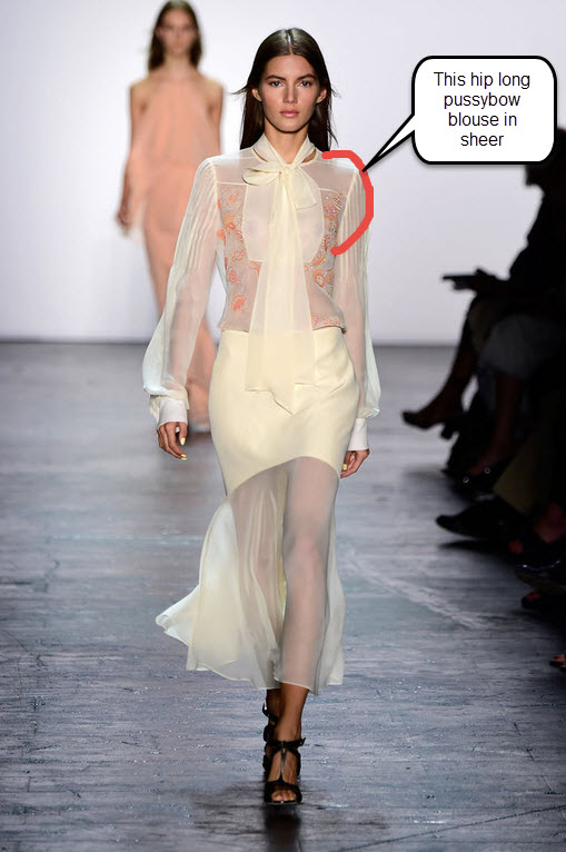 prabal-gurung-spring-2016-best-looks-summer-new-york-fashion-week-trends-top-best-white-pussybow-blouse-sheer-skirt