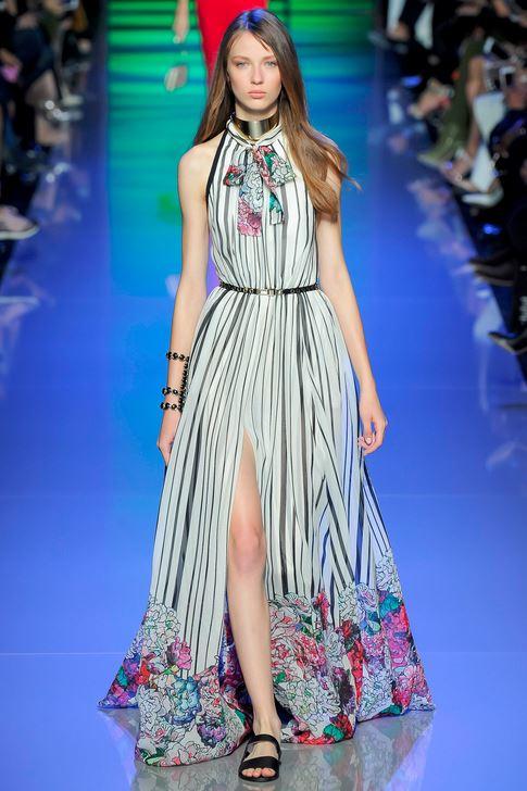 23-elie-saab-spring-summer-2016-white-stripe-floral-pussybow-maxi-dress-slit
