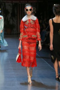 25-dolce-and-gabbana-spring-summer-2016-red-crochet-skirt-suit-embellished-sunglasses