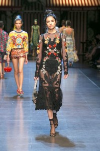 37-dolce-and-gabbana-spring-summer-2016-black-sheer-lace-dress-flower-embroidery-lingerie