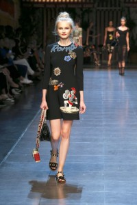 81-dolce-and-gabbana-spring-summer-2016-little-black-dress-roma-applique-colosseum-roman-soldier