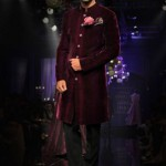 designer-wedding-dress-for-men-latest-winter-2015-2016-couture-groom-outfit-manish-malhotra-wine-burgundy-velvet