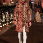designer-wedding-dress-for-men-latest-winter-2015-2016-couture-groom-outfit-rohit-bal-wine-gold