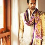 designer-wedding-sherwani-for-men-latest-trends-fall-winter-2015-2016-couture-groom-outfit-gold-purple-orange-nivedita-saboo