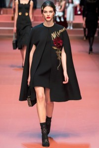fall-2015-winter-2016-fashion-color-trends-black-dolce-gabbana-rtw-cape-jacket-dress