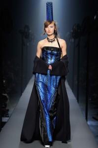 fall-2015-winter-2016-fashion-color-trends-jean-paul-gaultier-deep-sea-blue-dress