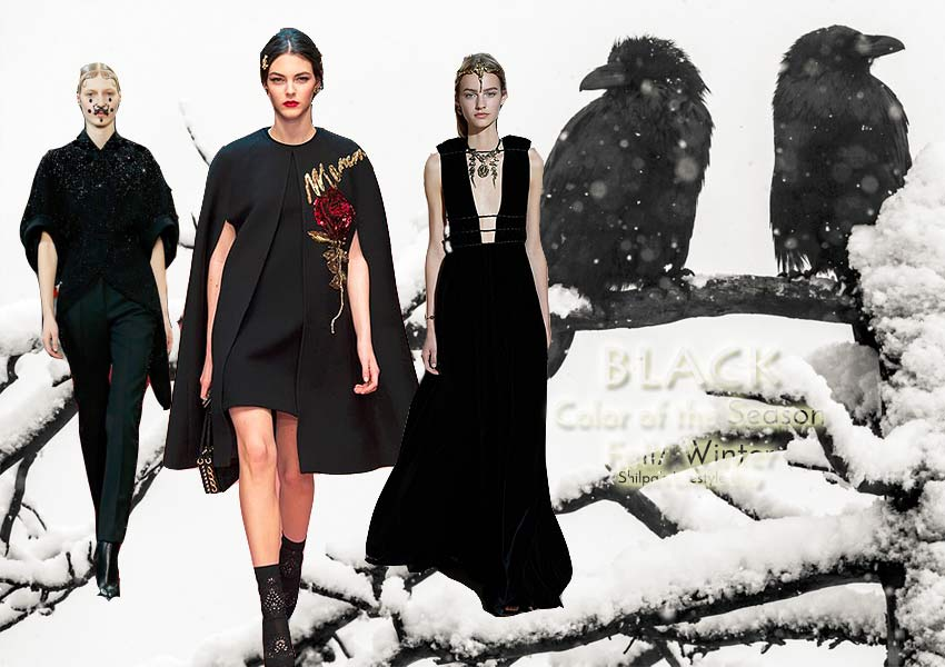 fall-2015-winter-2016-fashion-color-trends-runway-BLACK-dress