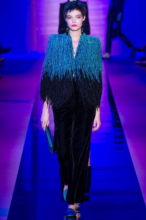 fall-2015-winter-2016-fashion-color-trends-runway-armani-prive-black-velvet-pants-coral-blue-jacket