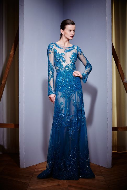 fall-2015-winter-2016-fashion-color-trends-runway-coral-blue-gown-zuhair-murad