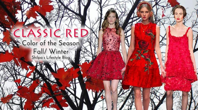 fall-2015-winter-2016-fashion-color-trends-runway-red-dress