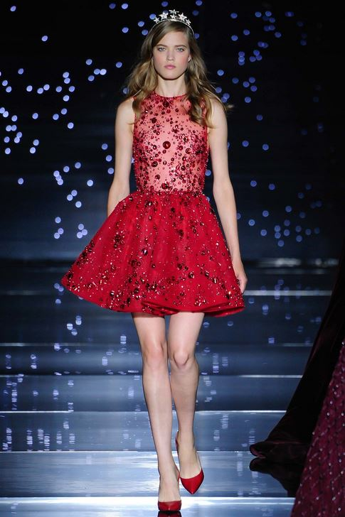 fall-2015-winter-2016-fashion-color-trends-runway-red-zuhair-murad-cocktail-dress