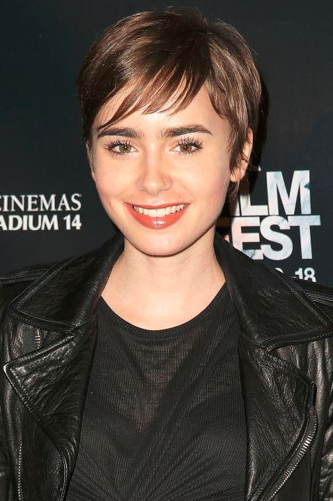 fall-2015-winter-2016-latest-top-hairstyle-trends-womens-lily-collins-pixie-fringes-bangs
