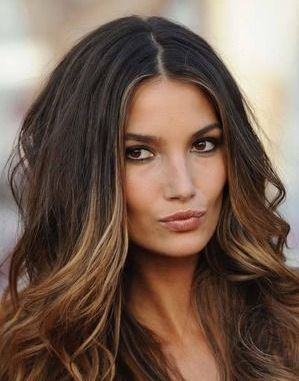 hairstyle-hair-trends-latest-center-part-ombre-color-bronde