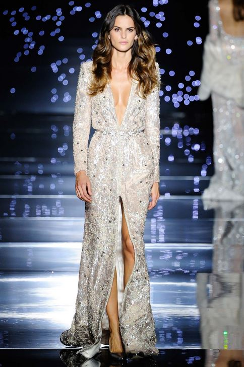 kendall-jenner-fall-2015-winter-2016-fashion-color-trends-zuhair-murad-white-gown-sequin
