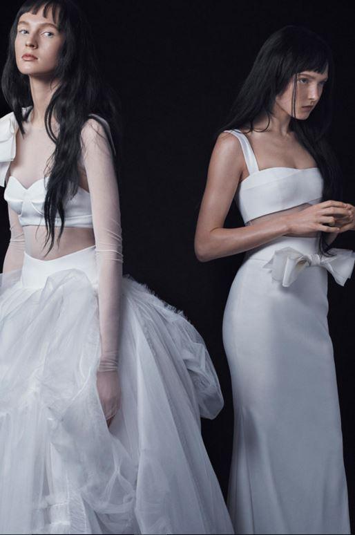 latest-bridal-dress-trends-gowns-white-fall-2015-winter-2016-designer-bra-top-crop-vera-wang