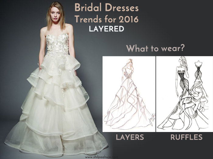 latest-bridal-dress-trends-gowns-white-fall-2015-winter-2016-designer-layered-ruffled