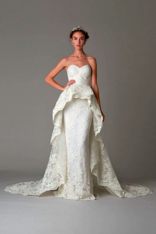 latest-bridal-dress-trends-gowns-white-fall-2015-winter-2016-marchesa-designer-couture-lace-layered-full-trail-strapless