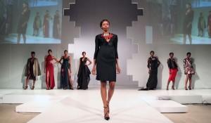 tina-lobondi-african-style-dress-black-pinstripe-red-silver-necklace