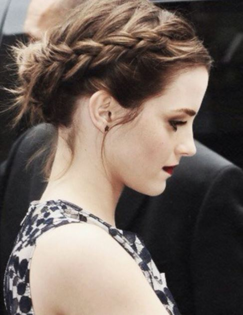 fall-2015-winter-2016-fashion-emma-watson-braided-bun-celebrity