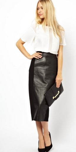How to Wear Black Leather Skirt | Winter Leather Skirt Outfit