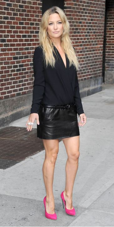 How to wear a short black leather skirt – Modern skirts blog for you