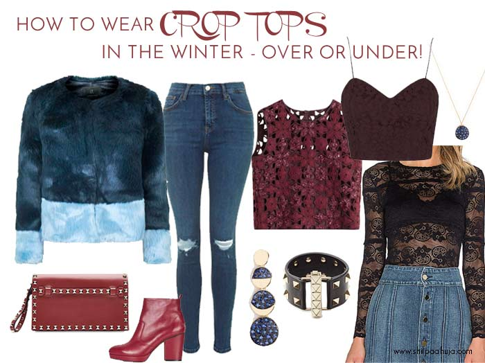 how-to-wear-crop-tops-in-winter-style-dress-what-to-wear-with-jeans-lace-top-1