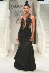 lakme-fashion-week-gaurav-gupta-dress-2015-winter-festive-black-sheer-designer-gown
