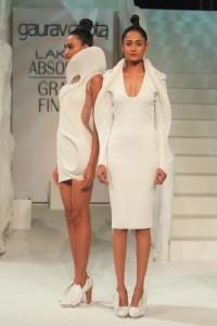 lakme-fashion-week-gaurav-gupta-dress-2015-winter-white-designer-makeup-bun