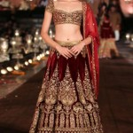 rohit-bal-bridal-lehenga-indian-wedding-2015-2016-latest-wine-gold-velvet-embroidery-choli