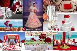 Indian wedding decorations theme ideas lehenga colors ruby theme wedding ideas red white color indian junglespirit Images