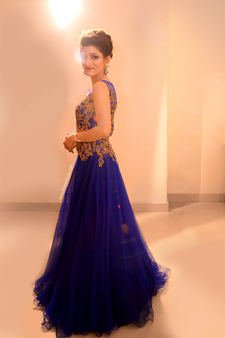 shilpa-ahuja-blue-gown-dress-look-photo-shoot-pic