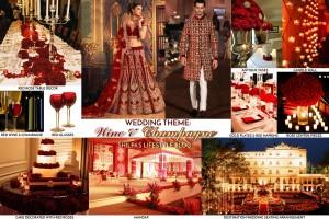 wine-theme-wedding-ideas-red-champagne-color-indian-decoration-decor-lehenga-sherwani-rose