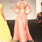 Divya-reddy-pink-lehenga-gold-choli-wedding-indian-designer-couture-lfw-2015-2016-winter