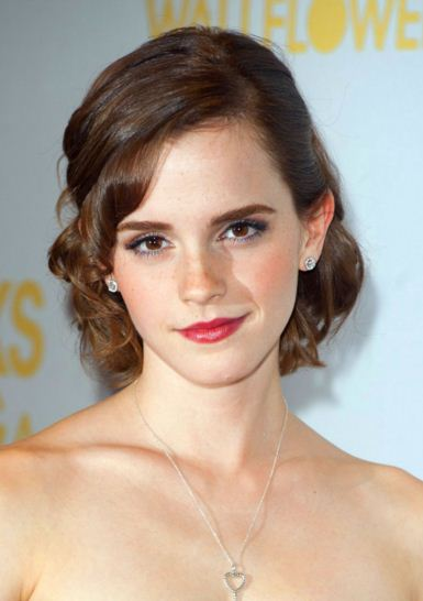 Emma Watson christmas party hairstyle inspo