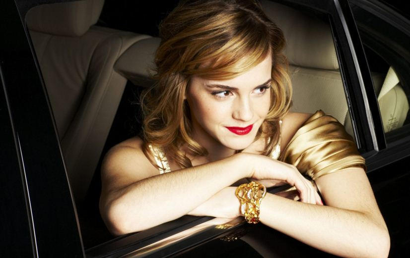 emma-watson-jewelry-bracelet-formal-red-carpet-gold