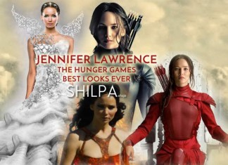 jennifer-lawrence-hunger-games-best-looks-costumes-all-hollywood-movie-red-dress-wedding-mockingjay