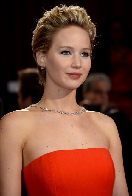 jennifer-lawrence-red-dress-gown-accessories-short-hairstyle-2014-oscar