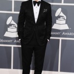 justin-timberlake-red-carpets-tuxedo-grammy-awards-black-tuxedo-bow-tie-two-tone-loafers-shoes