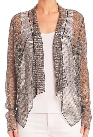 latest-winter-2016-jackets-party-sheer-shimmer-silver-elier-tahari