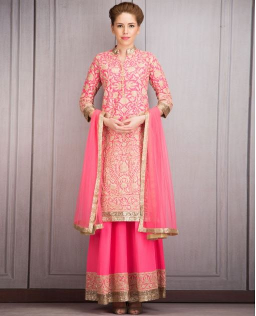 manish-malhotra-bridal-lehenga-indian-wedding-2015-2016-latest-kurta-kashmiri-embroidery-pink