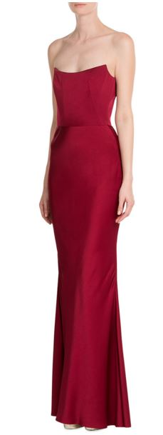 party-dresses-winter-holiday-dressing-outfit-2015-alexander-mcqueen-red-silk-satin-gown-strapless