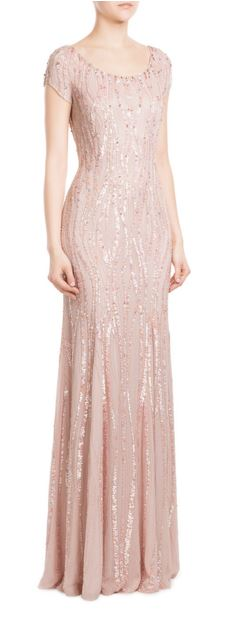 party-dresses-winter-holiday-dressing-outfit-2015-jenny-peckham-sequin-gown-embellished-pale-pink-peach